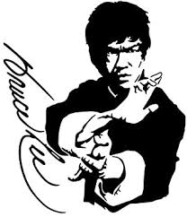 Hitada 13 7cmx16cm Bruce Lee Autograph Car Sticker Vinyl Decal Black Silver Amazon Com