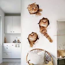 Yomi 3d Cat Stickers Toy Wall Decals For Kids Room Baby Bedroom Classic Stickers Wall Paper Toy Https Storefy Dropgecko Com