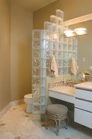 glass block shower