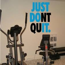 Fitness Wall Decals Gym Exercise Just Don T Quit With Etsy