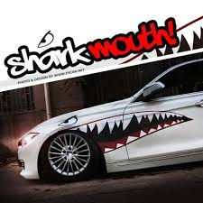 Creative Personality Car Stickers Garland Jaws Shark Mouth Body Color Door Stickers Affixed To The Door Free Shipping Sticker Toyota Door Reflectorsdoor Restrictors Aliexpress