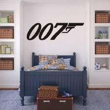 Huge James Bond 007 Silhouette Decal Removable Logo Wall Sticker Home Decor Art Diseno De Muebles Dormitorios Dormitorios Recamaras