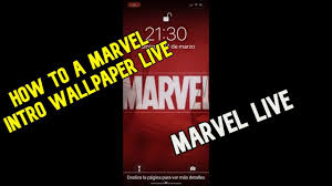 how to a marvel intro wallpaper live