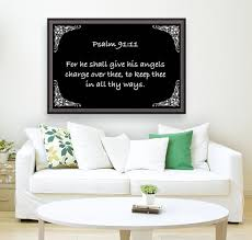 Psalm 91 11 5bw Scripture On The Walls