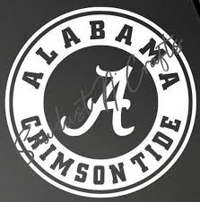 Vinyl Decal Alabama Crimson Tide Window Vehicle Etsy