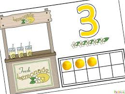 lemonade stand ten frame counting mats