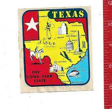 Houston Texas Vintage Travel Sticker Decal 3 7 8 Lonestar Laptop Bumper Collectibles Automobilia Collectibles