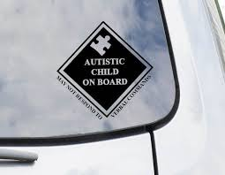 Keep Your Autistic And Or Non Verbal Child Safe In The Event Of An Emergency With This Adhesive Vinyl Decal Place Autism Decals Autistic Children Vinyl Decals