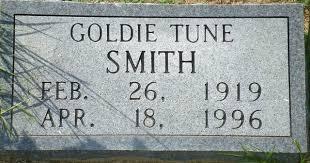 Goldie Smith (Tune) (1919 - 1996) - Genealogy