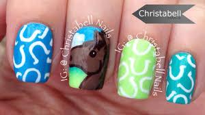 horseshoe nail art tutorial