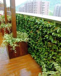 Balcony Terrance Privacy Fence Artificial Hedge Panels Modern Patio Houston By Greensmartdecor
