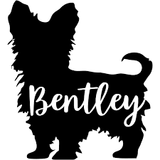 Personalized Yorkshire Terrier Vinyl Decal 904 Custom