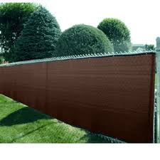 6 X 50 Heavy Duty Brown Fence Screen Mesh Tarp Finished Size 5 6 X 49 6 Fence Screening Backyard Shade Privacy Fence Screen