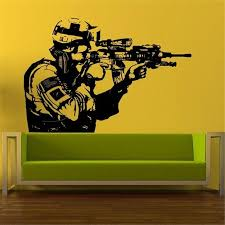 Vinyl Sticker Soldier Men Sniper Home Decor Removable Wall Decal Modern Design Living Room Boy Room Wall Stickers Stickers Wallpaper Stickers Walls From Joystickers 11 75 Dhgate Com