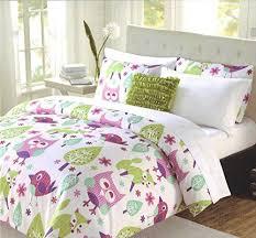 pc twin comforter bedding set owl fox