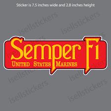 Semper Fi Us Marine Corps Usmc Bumper Sticker Window Decal