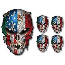 Amazon Com Mexico Usa American Flag Skull Vinyl Decal Sticker Truck Car Mexican Latino Latina Pride Home Improvement