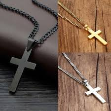 wisiorki mens chain necklace cross