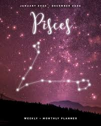 pisces weekly monthly planner