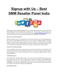 Signup with us best smm reseller panel india