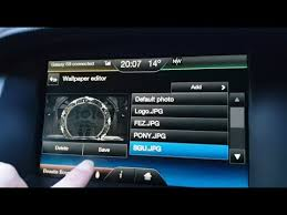 how to set the ford sync wallpaper