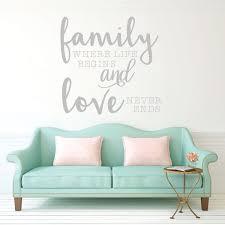 Family Quote Wall Decal Vinyl Decor Wall Decal Customvinyldecor Com