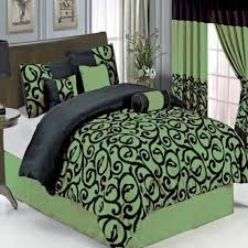 11 piece bed in a bag sage black