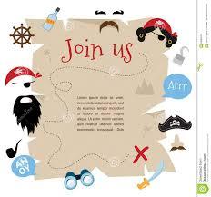 Diseno De Tarjeta De La Invitacion Del Partido Del Pirata