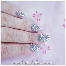 how to do full diamante nail art