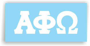 Alpha Phi Omega Decal For Car Laptop Or Anywhere Vinyl Decal In 2 Greek Apparel And Hobbies