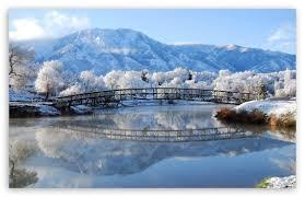 beautiful winter scene ultra hd desktop