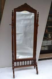 walnut antique cheval mirror italy