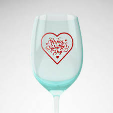 6x Happy Valentine S Day Vinyl Decal Stickers Wine Glass Cup Gift Party Diy Ebay