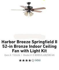 springfield ii ceiling fan