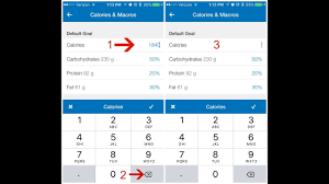 how to adjust calorieacros on