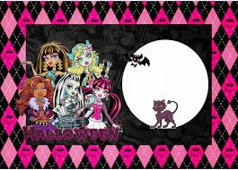 Kit De Monster High Especial Halloween Para Imprimir Gratis
