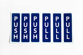Push Pull Door Labels Push Pull Door Signs