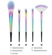 anmor rainbow makeup brush set makeup