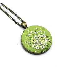 green white fl pendant polymer clay