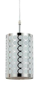 chrome drum pendant light fx 2293 1pl