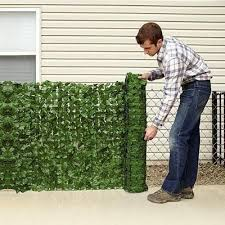 Ivy Privacy Fence Cover Domestify Backyard Privacy Screen Privacy Fence Designs Diy Privacy Screen