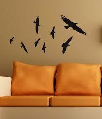 Vinyl Wall Art Bird Decals Flying Flock Of Raven Primitive Crows Halloween Decor 12 00 Via Etsy Bird Wall Decals Vinyl Wall Art Removable Vinyl Wall Decals