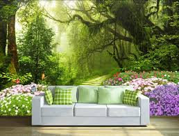 Forest Trees And Flower 3d Wall Sticker Wall Art Wall Painting Home Wallpaper Wall Wallpaper Decorating With Pictures