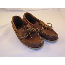 g h bass co boat shoes leather size