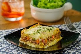 mashed potato and picadillo pie