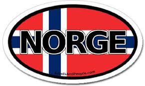 Very Bumper Sticker Norway Norge In Norwegian And Norwegian Flag Car Bumper Sticker Decal Oval