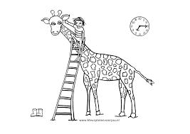 Dikkertje Dap Met Giraffe Kleurplaten Kleurplaten Voor Jou
