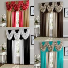 Bright Red Valance Curtain For Kids Room Or Kitchen Window Treatment Topper For Sale Online Ebay