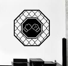 Vinyl Wall Decal Octagon Fight Club Fighting Martial Arts Mma Stickers Ig4423 Ebay