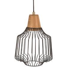 black geometric wire pendant lamp